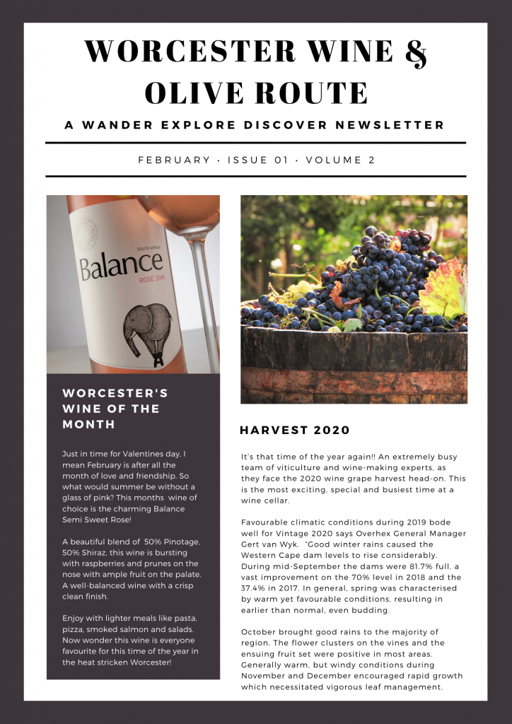worcester wine route newsletter